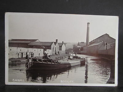 Lot 480 Canal Photo Postcard Barge & Mills at Rodley