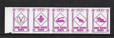 Scout Stamps 1990 Derby Venture Scouts  UM