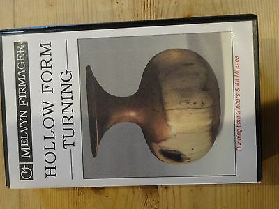 """Woodturning VHS """"Hollow Form turning"""" by Melvyn Firmager Includes Notes & Index"""