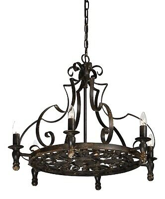 Gothic Wrought Iron Black Stunning Black Chandelier Vintage Style