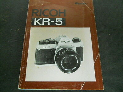 Vintage Richo KR-5 Owners / Operating Manual in English German French Spanish +