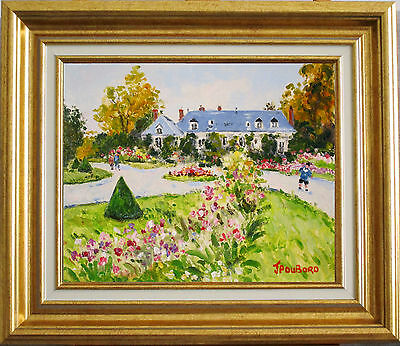 Jean Pierre Dubord~Listed Artist~Flower Garden In Normandy~Original Oil Painting