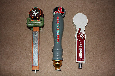 Lot of 3 BEER TAP HANDLES - BROOKLYN DEFENDER, CAPTAIN LAWRENCE, TWO ROADS