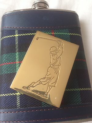 Golf Paperweight And Flask