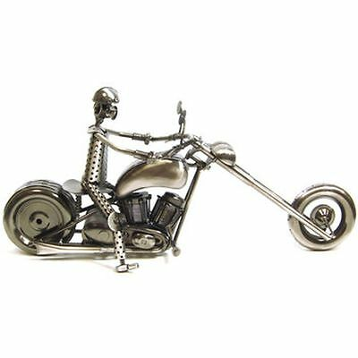 MOTORCYCLE CHOPPER NUTS AND BOLTS ART - SIlver 3D Harley Davidson - Large Piece