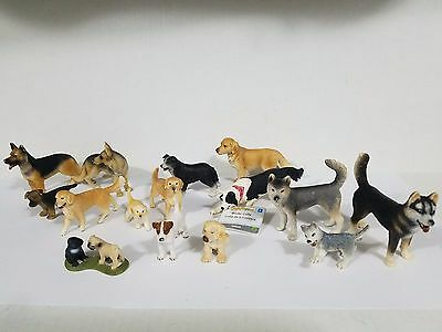 Schleich lot of 15 dogs