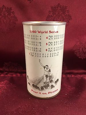 IRON CITY 1960 World Series Pittsburg Pirates Beer Can by Pittsburg Brewing Co