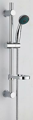VeeBath Beta Round Shower Kit includes Bar Riser Rail/Shower Hose and Soap Dish
