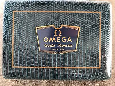 Vintage Leather Omega Sapphette Watch Box