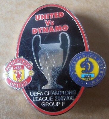 Manchester United enamel football badge Champions League 2007/08