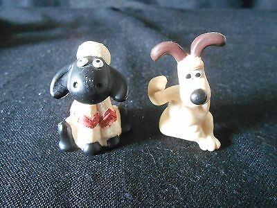 GROMIT and   SHAUN  THE SHIP - 4 COLLECTIBLE MINIATURE FIGURINES