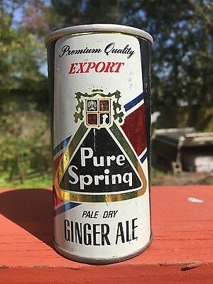 10oz Pure Spring ginger ale soda pop can