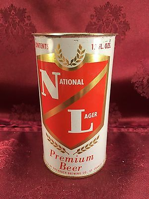 NATIONAL LAGER 12 oz Beer Canby Fischbach Brewing Company 1975