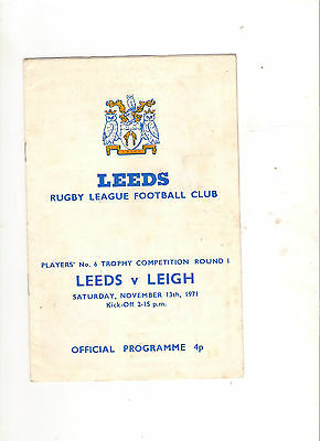 1971  Leeds v  Leigh (Players No 6 Trophy) ---Rugby League
