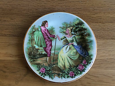 Vintage Shabby Chic Courting Couple Miniature Plate