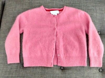 Marshall Fields Girls Size 4 /5  Sweater 100% Cashmere Pink Button. Easter!! XS