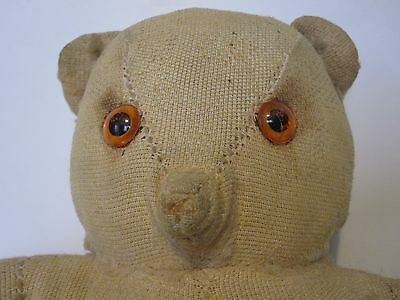 """Fred Bear vintage bald 10 ½ """" Teddy Bear in need of a loving home & clothes"""