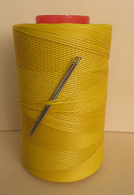 RITZA TIGRE WAXED HAND SEWING THREAD 0.6mm FOR LEATHER/CANVAS  2 NEEDLES YELLOW