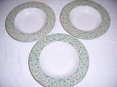 British Home Stores BHS VALENCIA Rimmed Soup dishes X 3