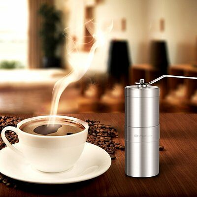 Manual Coffee Grinder Portable Hand Crank Stainless Coffee Mill Adjustable