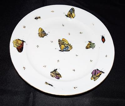 "9 & 1/2"" Rare~Plate~French Antique~Chantilly~Porcelain~Butterfly~c1802~Pigory P"