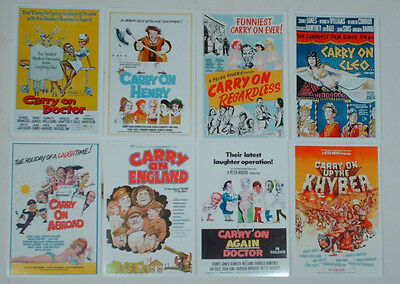 Carry On Movie Posters Job Lot Set 10 Colour 6 X 4 Glossy Cards Set One Films