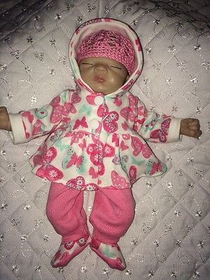 "Handmade  Clothes Set Made To Fit Ashton Drake 10"" Reborn Ooak Girl Doll Sculpt"