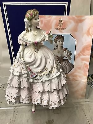 "Royal Worcester  Large Figurine ""the Fairest Rose "" Boxed"