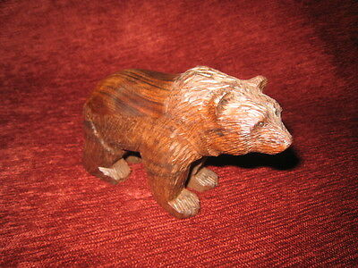 Carved Wooden Grizzly Bear