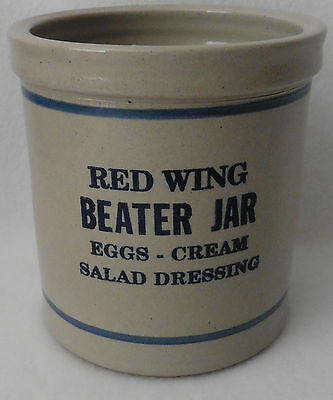 RED WING BEATER JAR Advertising Nelson agri-center Viroqua, WI Soneware 5 1/2""
