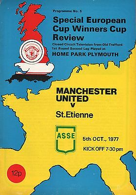 1977/78 Manchester United v St Eienne - CCTC from Plymouth - ECWC - PERFECT