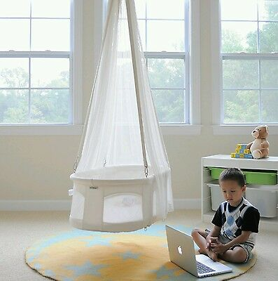 Dreambur Hanging Bassinet Cradle Baby Newborn Infant Nursery Furniture White