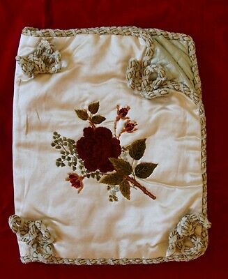 Antique Silk and Chenille Exquisitely Embroidered Book Cover French?