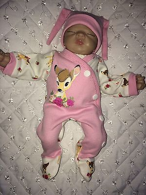"Handmade Clothes Sets Made To Fit Ashton Drake 10"" Reborn Ooak Girl Doll Sculpt"