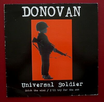 """DONOVAN - Universal Soldier (1991 3 trk 12"""" in PS on the Gulf Peace Team label)"""
