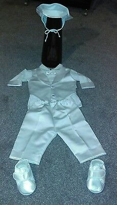 Baby boys christening outfit gown Baptism clothes