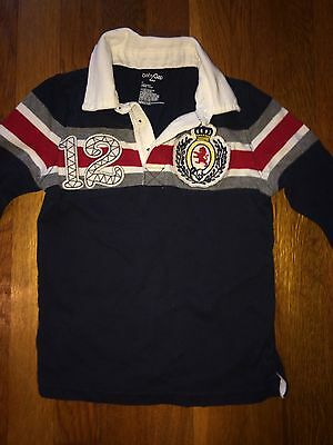Baby Gap Toddler Boys Blue Rugby Style Long Sleeve Collar Shirt  Size 4T GUC