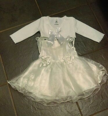 Baby girl christening dress white baptism outfit