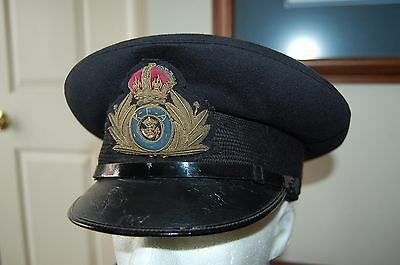 Rare WWII British/Canadian Royal Fleet Auxiliary Navy Officer Visor Cap Gieves