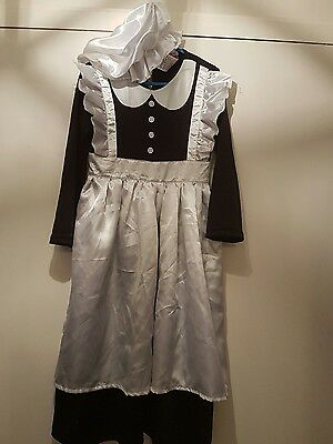 Girls Victorian Maid Fancy Dress. 5-6 years.