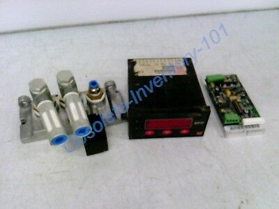 3 Pc Mixed Electrical Lot:  Moog, Electronic Measurements Inc, Festo Electric
