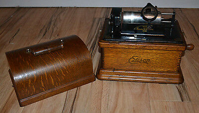 Edison Fireside Model A Phonograph Combination Type, Plays 2 + 4 Records