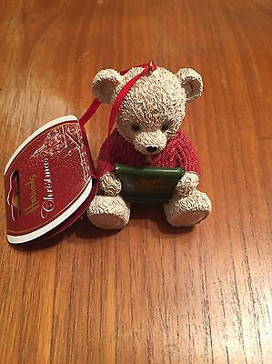 Harrods 2015 30th Anniversary Resin Tree Bear Ornament BNWT