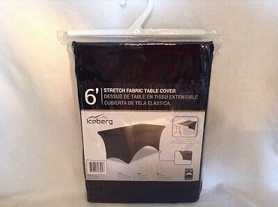 """Iceberg ICE16521 Stretch Fabric Table Cloth Cover 6' Length For 72"""" X 30"""" NEW"""