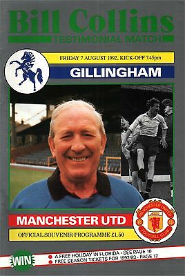 1992/3 Gillingham v Manchester United, Testimonial, PERFECT CONDITION