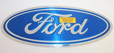 Iconic Ford Oval Emblem Metal Sign Tin Automotive Garage Decor 17.5 x 7.5 Inches