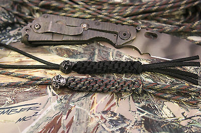 2 Dead Nutz Paracord Knife Lanyards Emerson Skull Beads Tactical Survival Gear