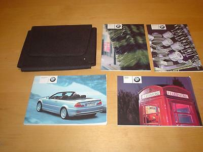 BMW 3 SERIES E46 CONVERTIBLE 318 320 325 330 Ci CABRIOLET Owners Handbook Manual