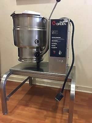 Groen 20 Quart Electric Countertop Steam Jacketed Kettle TDB-20 w/ stand