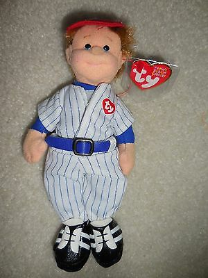 Ty Home Run Hank Teenie Beanie Bopper doll teenie Beanie Baby new with tags